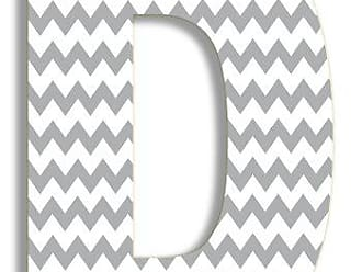 The Stupell Home Décor Collection The Stupell Home Decor Collection Gray Chevron Hanging Wall Initial, 18-Inch, D