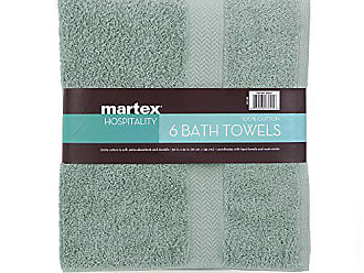 Westpoint Home COMMERCIAL PREMIUM 6 PIECE BATH TOWEL SET BY MARTEX - 6 Bath Towels, Home, Business, Shower, Tub, Gym, Pool - Machine Washable, Absorbent, Professional Grade, Hotel Quality - AQUA
