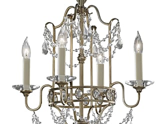 Feiss F2476/4GS Gianna Chandelier - Mini Duo in Gilded Silver finish