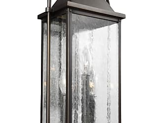 Feiss Wellsworth 18.25 3-Light Outdoor Wall Lantern in Antique Bronze