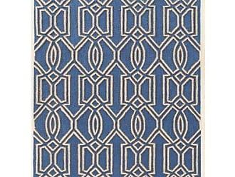 Linon Linon Trio Off- Off-White Natural Fiber Rugs, 5 x 7, Blue