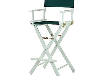 Yu Shan Casual Home 30 Directors Chair White Frame-with Hunter Green Canvas, Bar Height