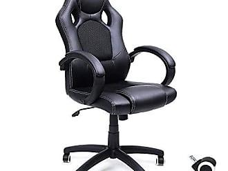 SONGMICS Bürostuhl chefsessel PU schwarz hoher Rückenlehne Drehstuhl OBG51B