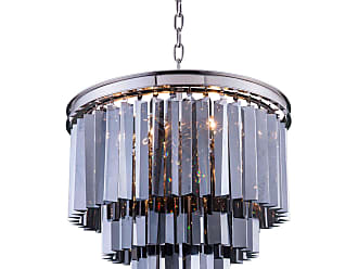 Urban Classic Sydney Collection 20 in. Chandelier Silver-Shade Crystals Polished Nickel - 1201D20PN-SS/RC