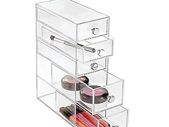 InterDesign Clarity Plastic Cosmetic 5-Drawer, Jewelry Countertop Organization for Vanity, Bathroom, Bedroom, Desk, Office, 3.5 x 7 x 10, Clear