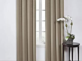 Ellery Homestyles ECLIPSE 52 x 63 Insulated Darkening Single Panel Grommet Top Window Treatment Curtains for Bedroom Round Living Room, Mushroom