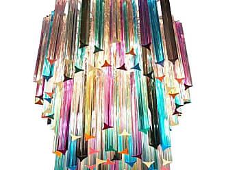 VENINI Chandelier Multi-color Triedri, 107 Prism, Murano, 1970s