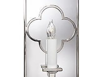 Visual Comfort Quatrefoil Rectangle Mirrored Wall Sconce