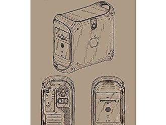 Inked and Screened SP_TECH_418,490_KR_17_K Apple Power Mac G4 Print, 11 x 17, Kraft-Black Ink