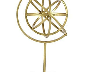 Deco 79 47358 Tin Armillary Sphere Sculpture with Acrylic Base Gold/Clear