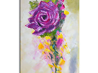 Omax Decor OMAX A Rose by Any Other Color Painting on Canvas - 32W x 48H in. - A 0316