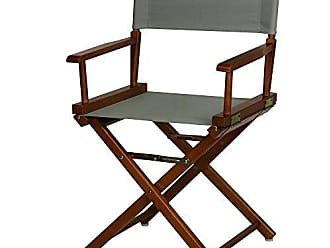 Yu Shan Casual Home 18 Directors Chair Honey Oak Frame with Grey Canvas