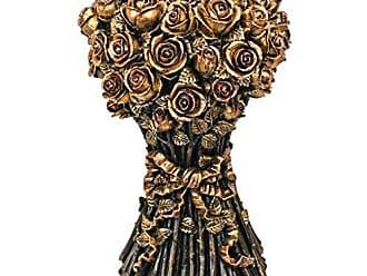 Design Toscano EU9358 Roses Glass Topped Sculptural Table