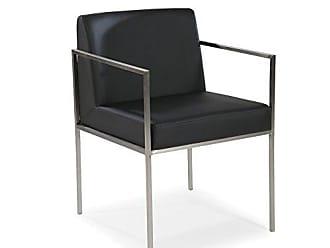 Moe's Capo Arm Chair, Black, Set of 2