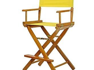 Yu Shan Casual Home 24 Directors Chair Honey Oak Frame-with Yellow Canvas, Counter Height
