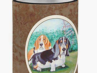 Caroline's Treasures 7061CC Basset Hound Double Trouble Can Or Bottle Hugger, Multicolor