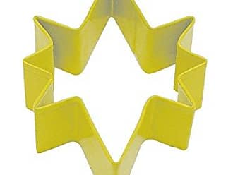 CybrTrayd R and M Bethlehem Star 3.5-Inch Cookie Cutter Yellow with Colored, Durable, Baked-On Polyresin Finish