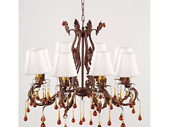 Art Maison Canada IMP0254 Antique Wrought Iron Floral and Leaf Chandelier - IMP0254