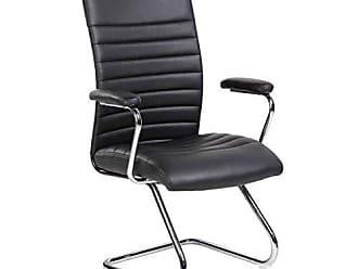 Pelegrin Cadeira Interlocutor Pelegrin Em Couro Pu Preta Pel-9023v