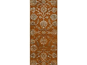 Home City Inc. Superior 6mm Pile Height with Jute Backing, Durable, Fashionable and Easy Maintenance, Brookshire Collection Area Rug, 27 x 8 Runner - Orange