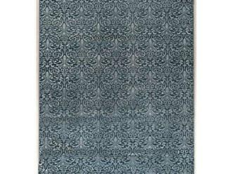 Linon Linon Collection Evolution Damask Blue 8 R 8 Round