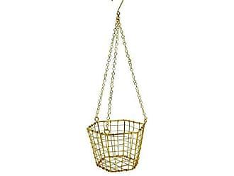 Foreside Home And Garden Hexagon Hanging Basket Brass
