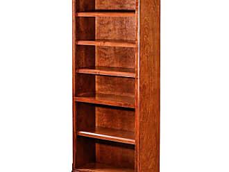 Forest Designs Mission Bookcase Unfinished Alder, Size: 96 in. - B6114- MA-96H-UA