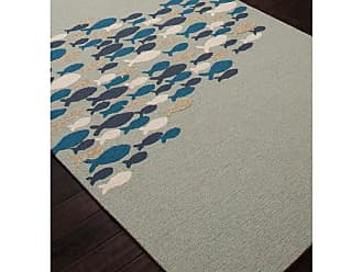 Jaipur Living Rugs Coastal Lagoon Go Fish Indoor/Outdoor Area Rug Niagra, Size: 2 x 3 ft. - RUG122613