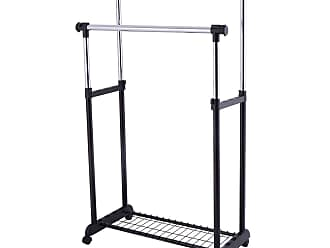Costway Double Adjustable Cloth Hanger Garment Rack