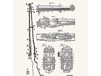 Inked and Screened SP_Milt_1,892,141_TW_24_K Military and Weaponry M1 1,892,141-J.C. Garand Print, 18 x 24 True White - Black Ink