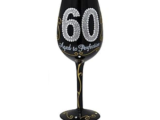 Gift Essentials 15 oz. 60 Aged to Perfection Wine Glass - WG60AGEDTOPERFE