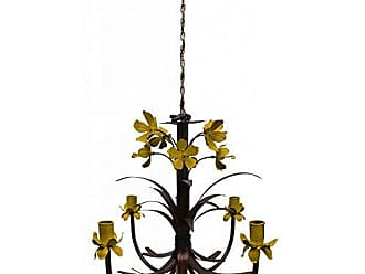 Libertas Rosas Artesanato Linda Luminária de Ferro com Lírios Artesanais Iluminação Sala de Estar