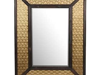 Privilege International Wooden Wall Mirror - 36W x 40H in