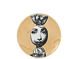 Fornasetti Theme & Variations Plate No. 262 - Wht & blk & gold