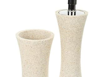 Nameek's Gedy AU500-03 Aucuba Soap Dispenser and Toothbrush, Natural Sand