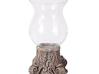 Privilege International Privilege 66766 Ceramic and Glass Hurricane, Small
