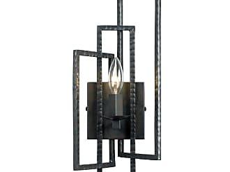 Crystorama 331-LQ Capri 1 Light 7 Wide Hammered Steel