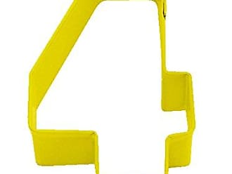 CybrTrayd R&M Durable Cookie Cutter, Monogrammed Number 4, Yellow, Bulk Lot of 12