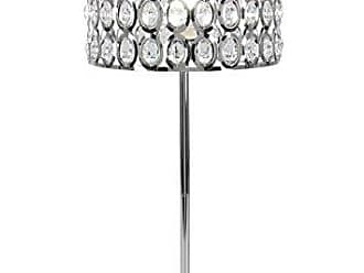 Deco 79 72654 Silver Iron with Crystals Table Lamp