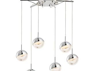 ET2 E20326 Spot 21 Wide 6 Light LED Pendant with Chome / Acrylic