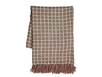 Foreside Home And Garden Hand Woven Barrett Throw Taupe