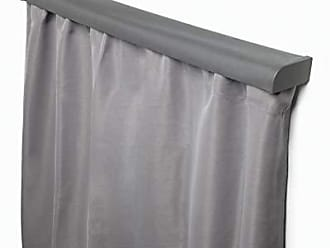 Umbra Blackout Valance, Installs with Non-Damaging Wall Adhesive Over Your Existing Curtain Rod to Block Out Light, No Drilling Required, Charcoal