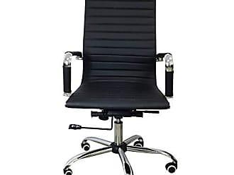 Pelegrin Cadeira Presidente para Escritório Couro PU Preta PEL-1190H - Pelegrin