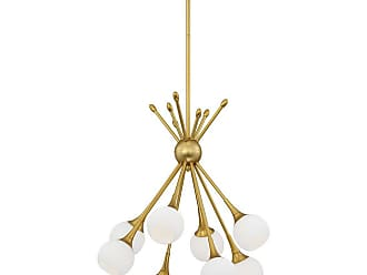 George Kovacs Pontil 18 8-Light Chandelier in Honey Gold