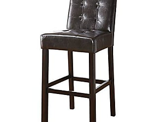 Coaster 29 Upholstered Bar Stools Cappuccino and Dark Brown (Set of 2)