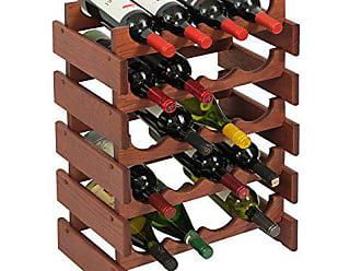 Wooden Mallet 20 Bottle Dakota Wine Rack, Mahogany