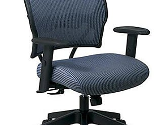 OFM SPACE Seating Deluxe VeraFlex Fabric Seat and Back, 2-to-1 Synchro Tilt Control and 2-Way Adjustable Arms Managers Chair, Blue Mist