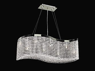 PLC Lighting PLC 66010 Crystal 8 Light Down Lighting Chandelier from