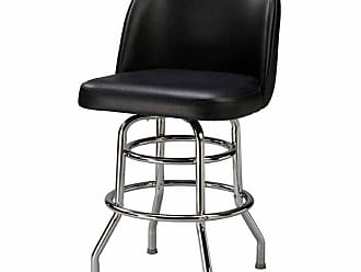 Regal Bucket Seat Large 30 in. Double Ring Chrome Bar Stool Golden Brown - P5-1106-30-ELDIEGO-GOLDENBROWN