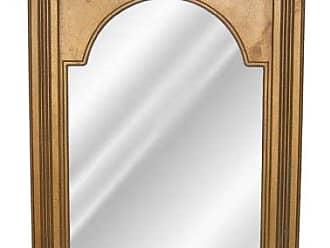 Hickory Manor House Beaded Dart Mirror/Agantique Gold HM6525AG Beaded Dart Mirror/Agantique Gold